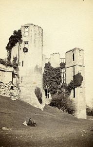 United Kingdom Kenilworth Castle Leicester's Buildings Old CDV Photo 1865