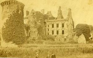 United Kingdom Scotland Caerlaverock Castle Old CDV Photo GW Wilson 1870