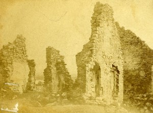 USA Lake Champlain Ruins of Fort Ticonderoga Old CDV Photo 1865