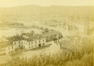 France Betharram Panorama Bridge Old CDV Photo Jules Andrieu 1865