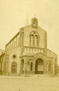 France Biarritz Chapelle Ste Eugénie Old CDV Photo Jules Andrieu 1865