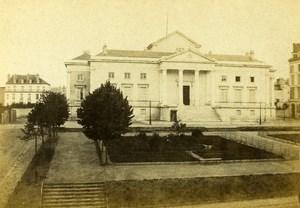 France Pyrenees Pau Palais de Justice Old CDV Photo Jules Andrieu 1865