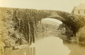 France Betharram Bridge Old CDV Photo Jules Andrieu 1865