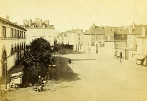 France Betharram Street Place Old CDV Photo Jules Andrieu 1865