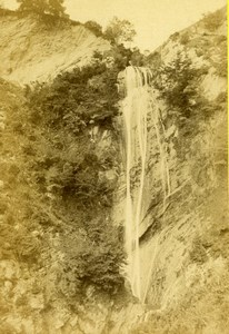 France Eaux Bonnes Cascade du Serpent Old CDV Photo Jules Andrieu 1865