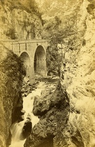 France Hourat Bridge Road to Eaux Chaudes Old CDV Photo Jules Andrieu 1865