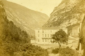 France Pyrenees Eaux Chaudes Hot Springs Spa Old CDV Photo Jules Andrieu 1865