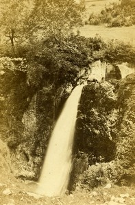 France Eaux Bonnes Gros Hetre Waterfall Old CDV Photo Jules Andrieu 1865