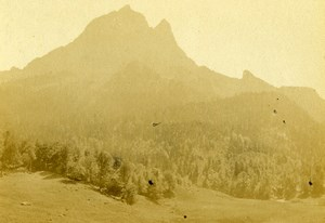 France Pyrenees Pic du Midi d'Ossau Laruns Old CDV Photo Jules Andrieu 1865