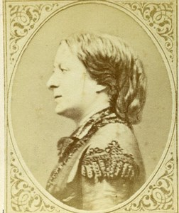 France actress Jeanne Arnould Plessy Old CDV Photo Figaro Album 1875