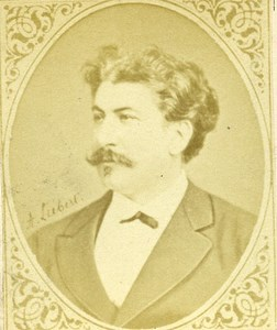 France writer Theodore de Grave Old CDV Photo Figaro Album 1875