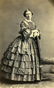 France Paris Woman Fashion of Second Empire Old CDV Photo Susse 1865