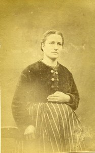 France Paris Woman Second Empire Clothing Old CDV Photo 1865