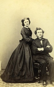 France Paris Man & Woman Fashion of Second Empire Old CDV Photo Penabert 1865
