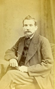 United Kingdom Exeter Man Victorian Fashion Old CDV Photo Keeping 1870
