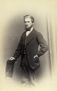 United Kingdom York Man Victorian Fashion Old CDV Photo Spencer 1870