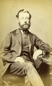 United Kingdom Leeds Man Victorian Fashion Old CDV Photo Child 1870