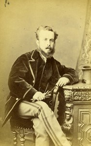 United Kingdom Harrogate Man Victorian Fashion Old CDV Photo Holroyd 1870