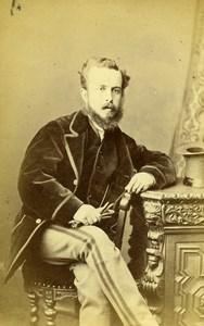 United Kingdom Harrogate Man Victorian Fashion Old CDV Photo Holroyd 1870