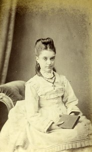 United Kingdom London Woman Victorian Fashion Old CDV Photo Stacy 1875