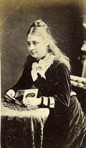 UK London Cheapside Woman Victorian Fashion Old CDV Photo Millen 1870