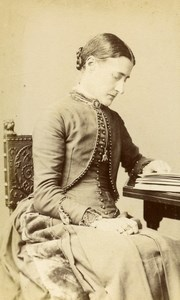 United Kingdom Maidenhead Woman Victorian Fashion Old CDV Photo Macey 1875