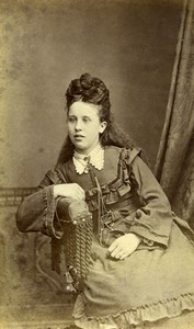 United Kingdom Blandford Woman Victorian Fashion Old CDV Photo Nesbitt 1870