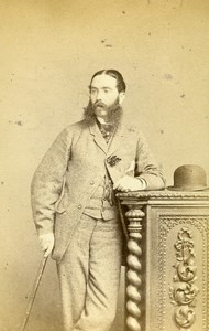 United Kingdom Isle of Wight Captain Wilson Fashion CDV Photo Jabez Hughes 1866
