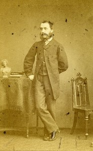 United Kingdom London Man Victorian Fashion Old CDV Photo Watkins 1864