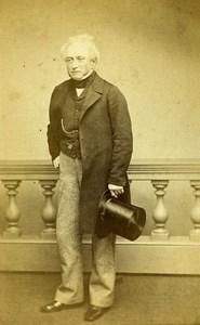 United Kingdom London Man Victorian Fashion Old CDV Photo Cotton 1865