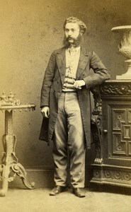United Kingdom London Man Victorian Fashion Old CDV Photo Newcombe 1865