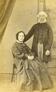 United Kingdom Torquay Couple Drake Victorian Fashion Old CDV Photo Bradnee 1870