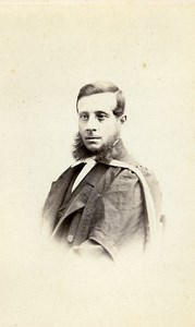 United Kingdom London Man Victorian Fashion Old CDV Photo Fehrenbach 1865