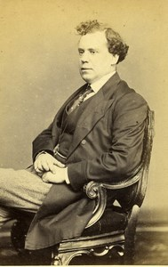 United Kingdom London Actor John Lawrence Toole Old CDV Photo Mayall 1870