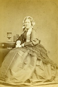 United Kingdom London Woman Victorian Fashion Old CDV Photo Watkins 1870