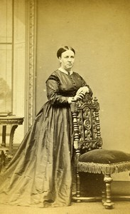 United Kingdom Newton Woman Victorian Fashion Old CDV Photo Owen 1870