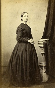 United Kingdom Hertford Woman Victorian Fashion Old CDV Photo Elsden 1870