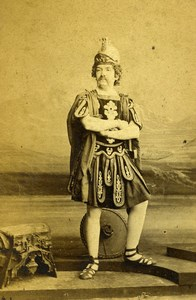 London Theater Actor Mr Hugues as Mars in Ixion Old CDV Photo Southwell 1864
