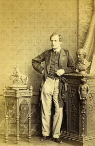 London Theater Stage Actor John Billington Old CDV Photo Southwell 1863