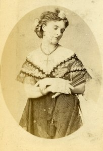 London Theater Actress Miss Sheridan Signed Old CDV Photo Wothlytype 1865
