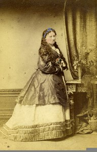 London Theater Stage Actress Julia Latimer Role? Old CDV Photo Lucas 1864