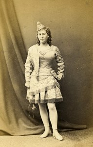 London Theater Stage Actress Miss Howard Old CDV Photo London Stereoscopic 1864