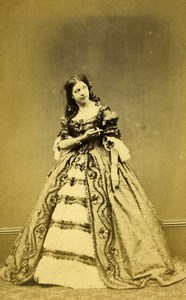 London Theater Stage Actress Henrietta Simms Hunchback Old CDV Photo Naudin 1864