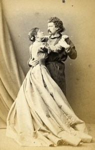 London Theater Actors Henry Neville & Kate Terry The Serf Old CDV Photo LSC 1864