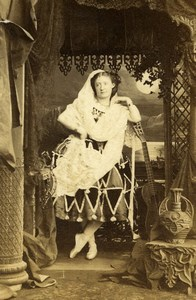 London Theater Stage Actress Lydia Thompson Old CDV Photo Southwell 1864