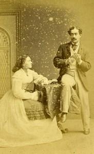 London Theater Stage Actors Ada Swanborough & Mr James Old CDV Photo Naudin 1864