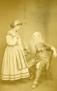 London Theater Miss Godsall Joseph Jefferson Rip Van Winkle Old CDV Photo 1865