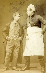 London Theater Actor JL Toole & Paul Bedford Willow Copse CDV Photo Prout 1859