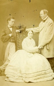 London Theater Sarah Woolgar John Lawrence Toole Paul Bedford Old CDV Photo 1859