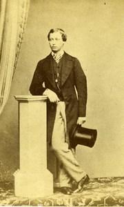 British Royal Family Edward VII Prince of Wales Old CDV Photo Lesage 1860